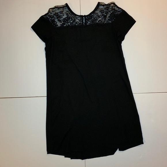 046d1a5d51b7 Zara Dresses | Black Lace Yoke Short Sleeve Shift Dress | Poshmark